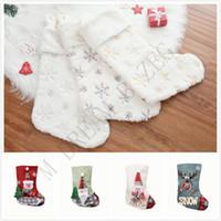 сумки повесить стены оптовых-11styles Рождество конфеты чулок подарок мешок рождественские елки украшения носки висит на стене рождественские украшения