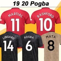 camisas novas para homens venda por atacado-19 20 Pogba ALEXIS Futebol Lukaku MATA Rashford Casa Fora 3º Mens camisas do futebol Fardas New MARCIAL Lingard MATIC manga curta