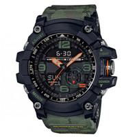 gg relojes al por mayor-Mejores ventas de los hombres Shcok Sport Relojes Termómetro brújula GG 1000 Relojes de pulsera multifuncional Todo el trabajo de puntero de goma reloj con caja