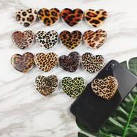 Wholesale Universal Expandable Phone Grip Shining Leopard Cell Phone Holder M glue Finger Flexible Stand For iPhone X plus Samsung S9 S10