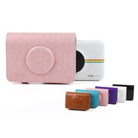 Wholesale bag for polaroid camera resale online - Colorful PU Leather Bag Camera Funda Tas Retro Protective Case Cover For Polaroid Snap Touch Model Cameras Handbag Backpack