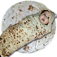 Wholesale round baby blanket resale online - Outdoor Indoor Baby Infant Round Burrito Shape Sleeping Swaddle Wrap Blanket Hot