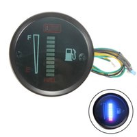 52 мм указатель поворота оптовых-52mm 12V Car Fuel Gauge Fuel Level Meter 10 LED Indicator light Car And Motorcycle Accessories