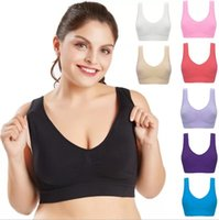 Wholesale big sizes womens clothing online - Oversize Sport Bra Womens Yoga Bra No Wire rim Adjustable Type Top bras thin Big Size Yoga Clothes LJJS13
