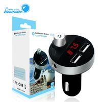 taşınabilir şarj cihazı paketleme toptan satış-X12 Çift USB bağlantı noktası Kablosuz Bluetooth Portable 2.1A Seyahat Araç Kiti Şarj FM Verici Adaptörü Perakende Paketi Uyumlu Akıllı Telefon