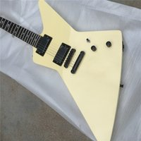 Wholesale free electric guitars for sale - Group buy Mahogany Body Cream Explorer Electric guitar Guitarra all color Available