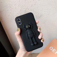 sevimli yumuşak 3d olgular toptan satış-Mytoto Yeni KAWS Oyuncaklar Susam Sokak 3D Yumuşak Silikon Telefon Kılıfı Iphone 6 6 s 7 8 Artı X XS XR MAX Karikatür Sevimli Durumlarda Geri Coque