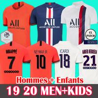 nueva jersey de futbol al por mayor-19 20 Soccer Jersey Paris Saint-Germain PSG camiseta de fútbol 2019 2020 Paris Mbappé ICARDI Marquinhos Jersey Camisetas Mujeres camiseta conjuntos HOMBRE INFANTIL