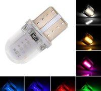 ampoules led pourpres achat en gros de-T10 épi LED CANBUS W5W 168 501 194 12V Led Éclairage Intérieur Ampoule Plaque D'immatriculation Clearance Lights Car Styling