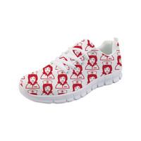 zapatillas de deporte lindas mujeres al por mayor-Noisydesigns Sneakers Tenis Zapatillas deportivas Nurse White Casual Flat Shoes Mujeres Cute Flats Air Mesh Transpirable Comfort Walking -AQ