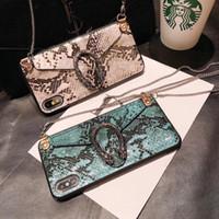 moto g 3rd gen toptan satış-iPhone İçin Lüks telefon kılıfları yılan Crossbody çanta cüzdan 11 Pro Max XS XR Zincir Askı moda Arka Kapak tasarımcısı telefon kapağı ile 8 7plus