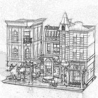 luces de calle modelo al por mayor-DHL 15019 15019B (con luz) Plaza de la Asamblea creador restaurante romántico Compatible con 10225 Street View Model Building Blocks juguetes de los ladrillos