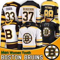 camisola de hóquei bobby orr venda por atacado-Boston Bruins Camisolas De Hóquei Zdeno Chara Jersey Marchand 2019 Copa Stanley Patrice Bergeron Pastrnak Bobby Orr Tuukka Rask