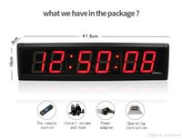 relógio digital de contagem regressiva de parede venda por atacado-[GANXIN] 2.3 inch 6 Digit 7 Segment Digital Led Clock Module Home Office Use LED Countdown Countdown Time led clock wall mounted