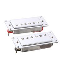 pescoços de guitarra lp venda por atacado-2pcs selado ponte e pescoço captador mini humbucker para lp guitarra cromo