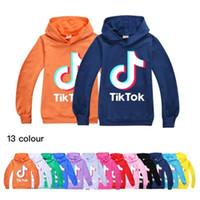 Wholesale boys hooded tops resale online - Tik Tok Kids Long Sleeve Hoodies Boy Girl Tops Teen Kids TikTok Sweatshirt Jacket Hooded Coat Cotton Clothing