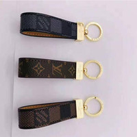 Wholesale The latest brand key chain of designer designs high quality leather mickey key chain luxury couple key chain brand box packaging