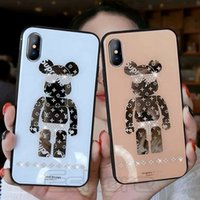 Wholesale rhinestones for cell phones for sale – best 2019 Trendy Mirror Phone Case for IPhone Pro X Xs Max Xr Bear Bling RhineStone Cell Phone Cases for IPhonX Plus Plus Pro Cover