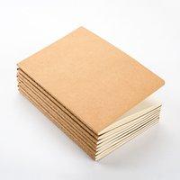 boş kitap kapağı toptan satış-Toptan 8.8X15.5 CM kağıt dizüstü boş not defteri kitap vintage yumuşak lekelemek günlük notlar Kraft kapak dergisi notebooklar not defteri