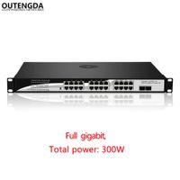 port voller poe-schalter großhandel-24-Port 1000M Gigabit POE-Switch mit 24 optischen 1000M PoE 2-Steckplätzen mit voller Gigabit-Leistung (400 W) für IPCams, WiFi AP