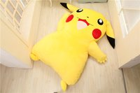 Wholesale pikachu bedding resale online - Japan Anime Pikachu Stuffed Large Cartoon Japanese Beds Mattress Pad Bedding Set Mat Memory Foam Cushion Summer Tatami