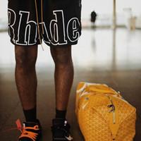 kadın hip hop spor pantolon toptan satış-19SS RHUDE New York 3 M Yansıtıcı KISA ÖRGÜ SPOR KISA DP Pantolon Erkek Kadın Rahat Gevşek Plaj Sokak Hip Hop Spor Sweatpants HFLSDK053