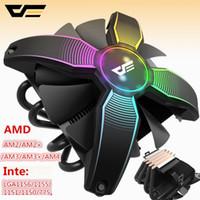 am2 prozessoren großhandel-darkFlash Aigo Computergehäuse CPU-Kühler Kühler 4 Kupferrohr Prozessorkühler CPU-Lüfter für Intel AM2 / AM3 / AM4