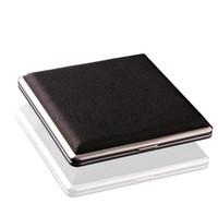 caixa preta da caixa de tabaco de cigarro venda por atacado-Preto de Bolso De Couro De Metal de Tabaco 20 Cigarro Fumo Titular Caixa De Armazenamento Caixa de Publicidade Presentes do Negócio SN2374