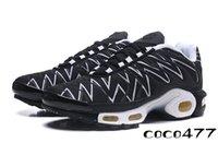 sapatilhas venda por atacado-2019 Desconto Das Mulheres Tênis Clássico Das Mulheres Tn Running Shoes Preto Vermelho Branco Sports Trainer Mulher Superfície Respirável Casuais sprots Sapatos