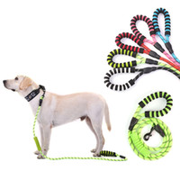 Wholesale double nylon dog collars for sale - Group buy Super Strong Coarse Nylon Dog Leash Canvas Double Row Adjustable Dog Collar Reflective light Medium Large Dogs dia cm