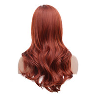 kıvırcık saçlı saç tokası toptan satış-Saç Bakımı Peruk Yüksek Sıcaklık Tel Fiber Peruk Standları Uzun Kıvırcık Yan Ayrılık Dalgalı Saç Kostüm Cosplay Salon Hairp Dec26