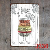 Wholesale tom paintings resale online - Metal Tin Signs Mojito Bloody Tom Blue Cocktail Tin Sign Bar Wall Decor Club Metal Crafts Home Decor Painting Plaques Art Poster LXL251 A