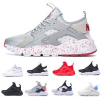 huarache mulheres venda por atacado-2020 Shoes Huarache Men Womens Running Shoes Black Red huaraches Sneakers Sports instrutor Almofada sapatos respirável Sports 36-45