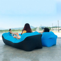 Wholesale portable single beds for sale - Portable Sofa Lazy Beach Settee Sleeping Bag Bed Air Inflatable Single Person Gonflable Lounger Waterproof Multi Color lzf1