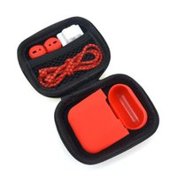 Wholesale earplug case for sale - Group buy For Apple Airpods Protector Silicone Case in1 Package Set Soft Cover Earplug Sleeve Pouch Anti lost Rope Buckle for Air pods Earphone DHL