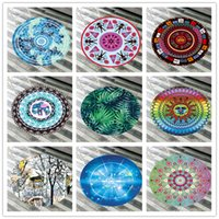 Wholesale microfiber yoga blankets for sale - Group buy Round Beach Towel Microfiber Soft Beach Blanket Bikini Shawl Quick Drying Swimming Bath Towel Tapestry Yoga Mat Carpet Outdoor Picnic Pad