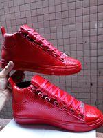 kırmızı ayakkabı fiyata toptan satış-Yılan derisi Kırmızı Alt Sneakers Lüks Tasarımcı Yüksek Top Paten Sneakers Erkek Bayan Rahat Ayakkabılar Marka Yeni Konfor Toptan Fiyat 39-46