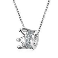 party königin krone großhandel-DZ360 Die weibliche koreanische Version der Halskette der kleinen neuen eingelegten Diamantkronenhalskettenart und weise INS-Königinart kurze Schlüsselbeinkette