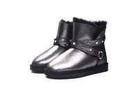 ilkbahar yaz kadın önyükleme toptan satış-Kadınlar için lastik çizmeler yarım ayakkabı yaz bereliler bahar 2019Top Kalite Wome için Yeni Moda Hakiki Koyun Deri Kar Botları