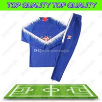 Wholesale football liver online - 2018 Autumn And Winter New Sports Tracksuit Hazard Diego Costa Oscar Firmino M salah Liver Gerrard Lallana Fabinho Football Training Suit