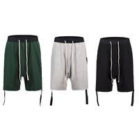 американский гарем брюки мужчины оптовых-Европа и американские летние шорты RO Wind Harem Шорты хип-хоп Свободные ленты сплошные шорты цвета INS Горячие мужские и женские повседневные брюки