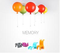 ballon acryl großhandel-Dia 25 cm 6 Farben Ballon Acryl Pendelleuchte Leuchte Home Deco Schlafzimmer Kinderzimmer E27 Energiesparlampen Pendelleuchte