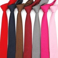 британское платье стиля женщины оптовых-5 CM High End Белье Tie Британский Стиль Мода Тощий Галстук Мужчина студент женщина Groom Галстуки Mans официально платье тонкий галстук