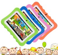 Wholesale android 4.4 hd tablet resale online - New Children s learning Tablet best gift for Kids inch HD with Silicone Case Quad Core GB Wifi bluetooth