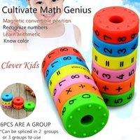 Wholesale diy toys for boys resale online - Magnetic Montessori Kids Preschool Educational Plastic Toys For Children Math Numbers DIY Assembling Puzzles Boys Girls Gifts