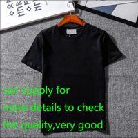 chemise de luxe de designer achat en gros de-Le nouveau concepteur T-shirts Vêtements pour hommes Marque Hauts T-shirt Fashion Summer Tide Braned lettres imprimées luxe Hommes Shirt Vêtements M-2XL
