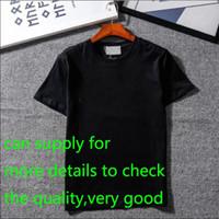 marcas de grife venda por atacado-Novo Designer de Camisas Dos Homens Marca de Roupas Tops Camiseta Moda Verão Maré Braned Letras Impresso Homens Camisa de Luxo Roupas M-2XL