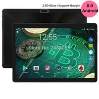 gps octa core phone al por mayor-2.5D Glass 10 pulgadas tableta Octa Core 4GB RAM 64GB ROM Llamada de teléfono 3G 1280 * 800 IPS Tabletas de regalo para niños GPS Android 8.0 Tableta OS