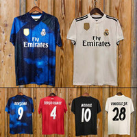 fc784e4c6 New 2019 Real Madrid home Soccer Jersey 18 19 Real Madrid away blue Soccer  shirt 2018 MODRIC ASENSIO VINICIUS JR ISCO KROOS Football uniform