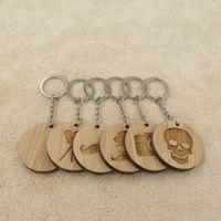 schnurrbartketten großhandel-Modeschmuck Schlüsselanhänger New Classic Wood Keychain Kamera Flim Gemtleman Schnurrbart Schädel Schlüsselanhänger Schlüsselanhänger